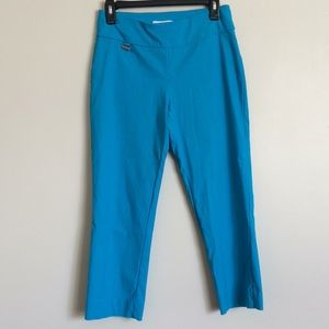 Peck and peck  blue stretch pants